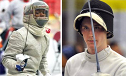 SHU Fencing stars Marty Williams, left, and Justin Dion