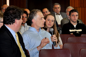 Dr. Stephen Lilley asked a question during the Strategic Plan meeting.