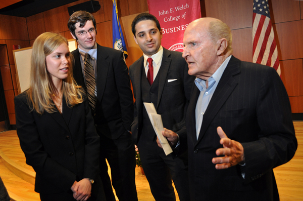 Jack Welch Visits Campus
