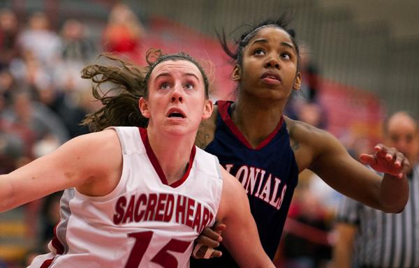 Women's Basketball against Robert Morris (photo by David W. Hahn)