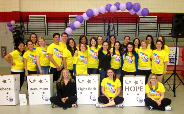 The Student Events Team at Relay for Life