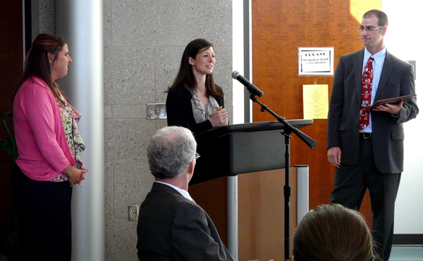 Katie Nichols, center, receives the STEP Award.