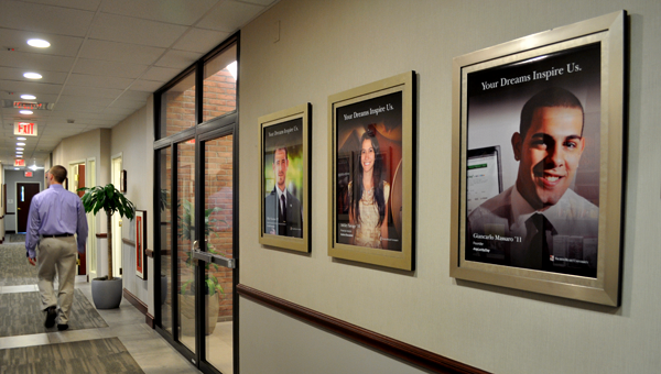 Alumni Posters in Curtis Hall