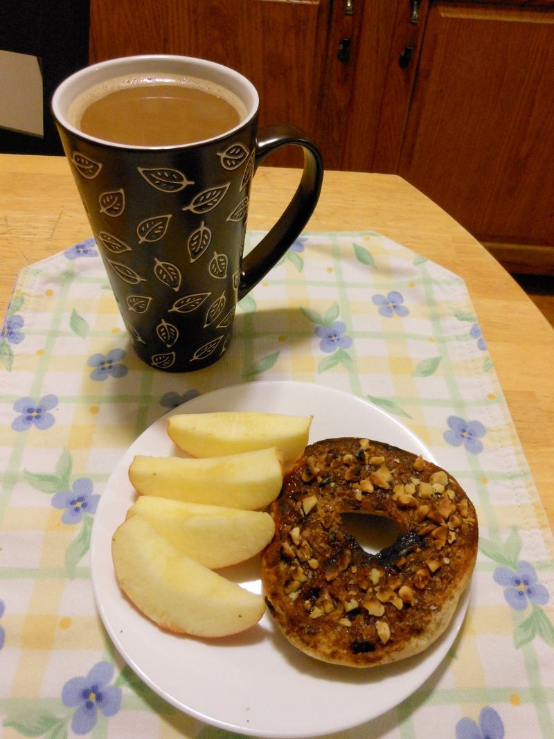 Coffee apple bagel