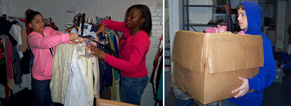 Upward Bound students volunteer in Bridgeport.