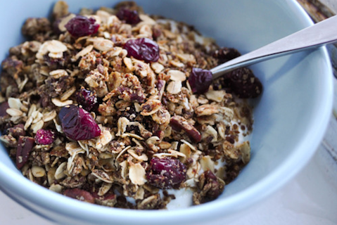 Flax-Seed-Cranberry-and-Walnut-Granola