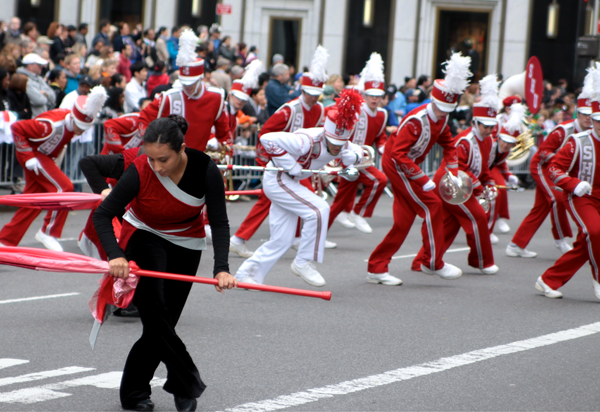 The Marching Band performs at the Columbus Day Parade in NYC.