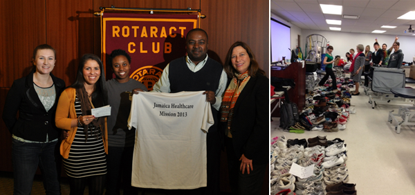 Rotaract Nursing donation and Physical Therapy shoe and sock drive