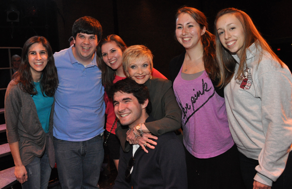 Florence Henderson with students