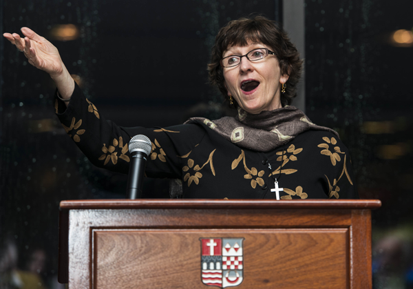Kathleen Deignan, CND, presents the Presidential Address during the Thomas Merton Conference.