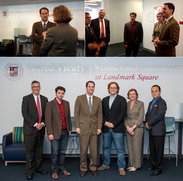 Congressman Himes visits Stamford Graduate Center at Landmark Square.