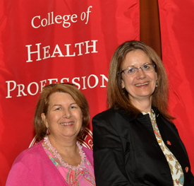 Professors Julie Stewart and Susan DeNisco