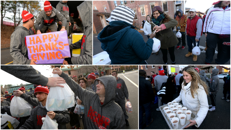 SHU Thanksgiving Food Donations 2016