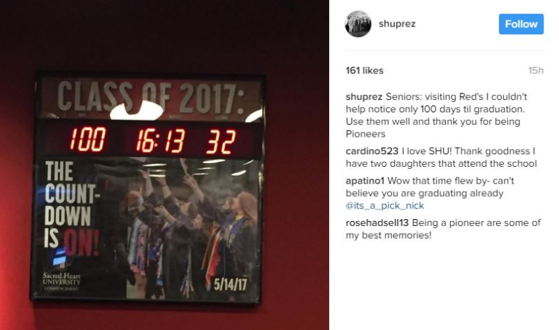 Shuprez on IG countdown clock