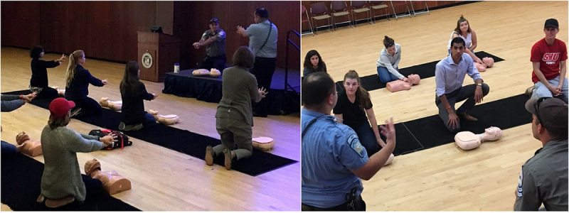 Safety Week CPR training