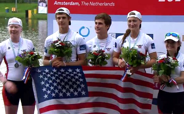 World Rowing Championships - Jaclyn is at far left