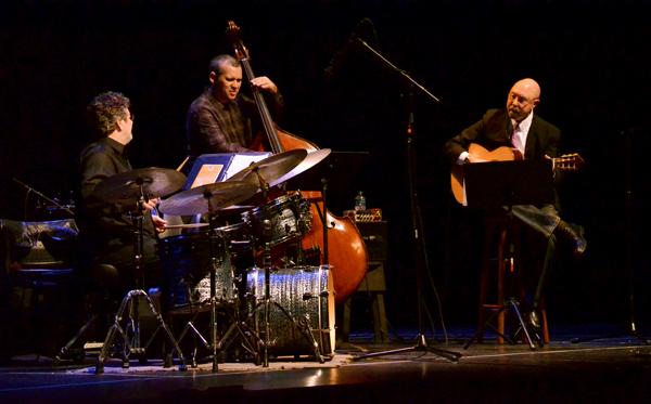 The Joe Carter Trio - from left are Duduka da Fonseca, Leco Reis and Joe Carter