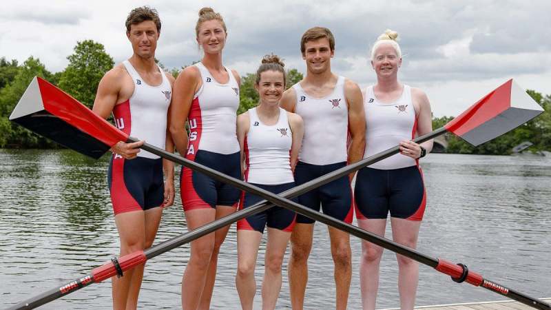 Rower Jaclyn Smith (far right) with her team