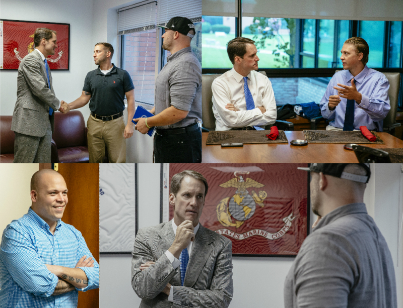 Congressman Himes visits the Veterans Resource Center