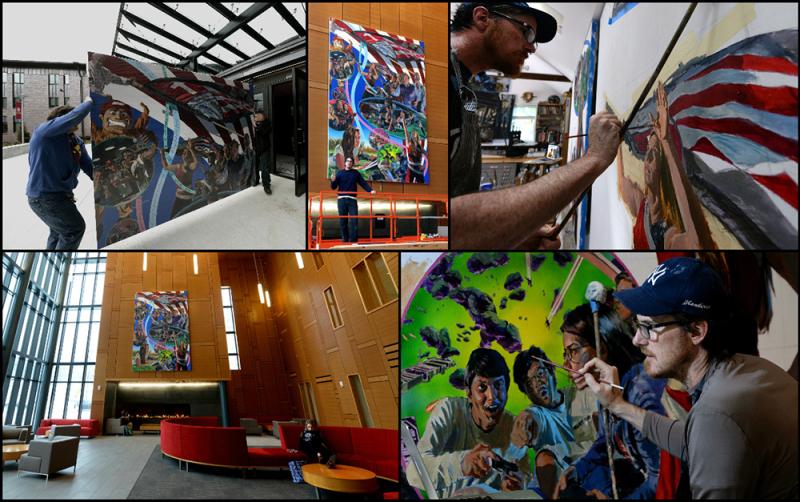 Professor Nathan Lewis Creates Mural