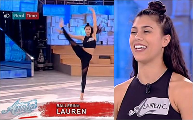 Lauren Celentano on Amici
