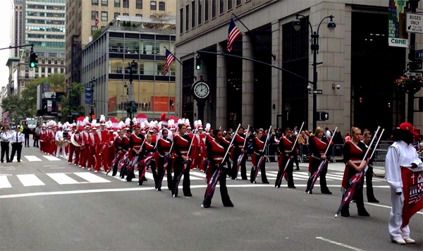 Marching Band in New York City's Columbus Day Parade