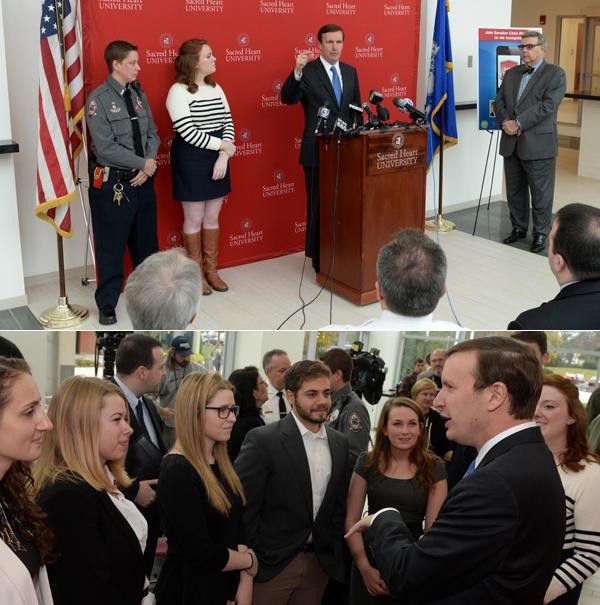 Senator Chris Murphy talks about SHU Safe