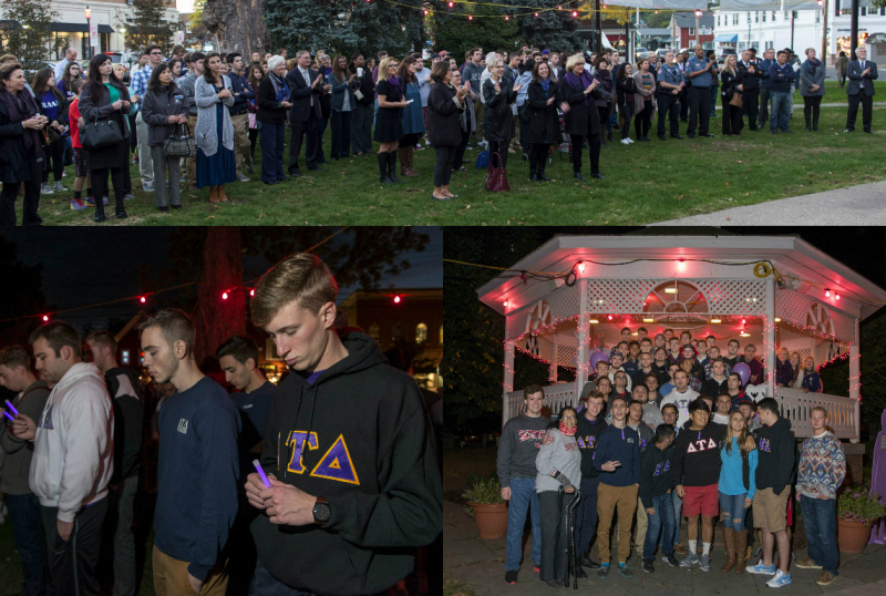 Domestic Violence Vigil on Sherman Green