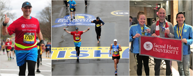 Tolga Kaya and Alumni at the Boston Marathon